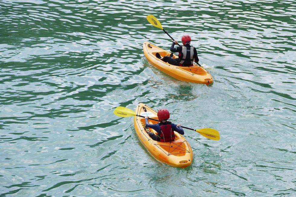 Kanu im See